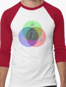 NEW Venn Diagram: Life, the Universe & Everything (for light shirts) Men's Baseball ¾ T-Shirt