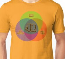 NEW Venn Diagram: Life, the Universe & Everything (for light shirts) Unisex T-Shirt