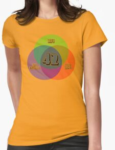 NEW Venn Diagram: Life, the Universe & Everything (for light shirts) Womens Fitted T-Shirt