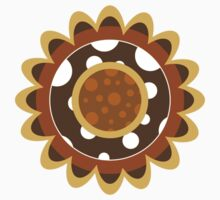 Abstract Sunflower Pattern One Piece - Long Sleeve