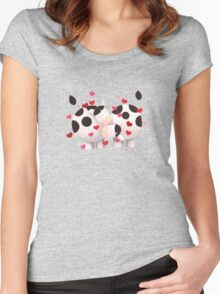Love moo Women's Fitted Scoop T-Shirt