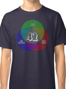 NEW Venn Diagram: Life, the Universe & Everything (for dark shirts) Classic T-Shirt
