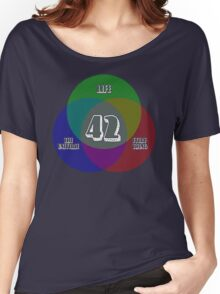 NEW Venn Diagram: Life, the Universe & Everything (for dark shirts) Women's Relaxed Fit T-Shirt