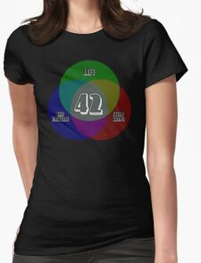 NEW Venn Diagram: Life, the Universe & Everything (for dark shirts) Womens Fitted T-Shirt