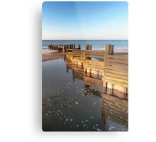Norfolk groyne Metal Print