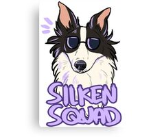 SILKEN SQUAD (black and white) Canvas Print