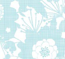 Blue lace flowers pattern Sticker