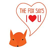 The fox says I love you! Photographic Print