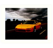 Yellow NSX Art Print