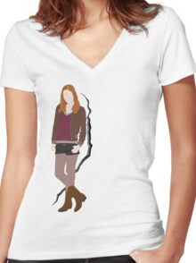 Amy Pond Quote Women's Fitted V-Neck T-Shirt