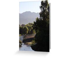 landscape with river I - paisaje con rio Greeting Card