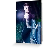 Laser Rays Greeting Card