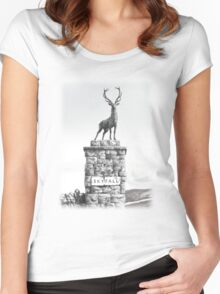 The Skyfall Stag Women's Fitted Scoop T-Shirt
