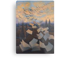 Flying Over City Metal Print