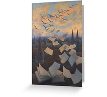 Flying Over City Greeting Card