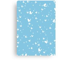 Butterfly Silhouette Pattern Canvas Print
