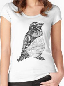 Tribal Penguin Women's Fitted Scoop T-Shirt