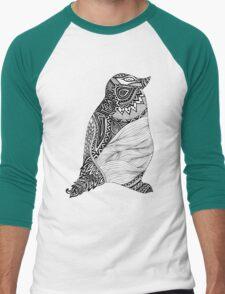 Tribal Penguin Men's Baseball ¾ T-Shirt