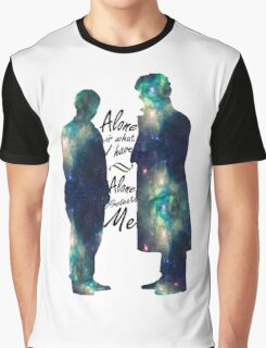 "Johnlock ""ALONE IS WHAT I HAVE"" white letters Graphic T-Shirt"