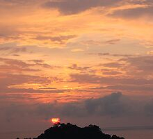Sunset Manuel Antonio Costa Rica by Alicia  Summerville