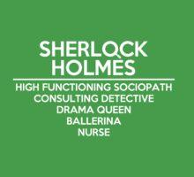 Sherlock Holmes /on dark colours/ Kids Clothes