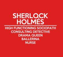 Sherlock Holmes /on dark colours/ Kids Tee