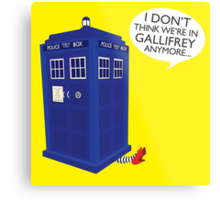 I Don't Think We're in Gallifrey Anymore... Metal Print
