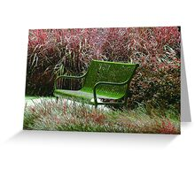 """Bench"" by Carter L. Shepard Greeting Card"