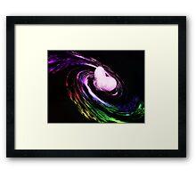 Heart filled galaxy Framed Print