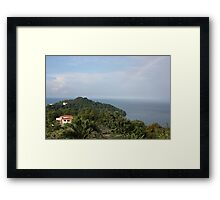 Manuel Antonio Rainbow Framed Print