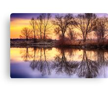 Pella Crossing Sunrise Reflections HDR Canvas Print