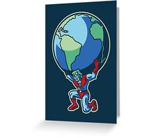 The Weight of the World Greeting Card