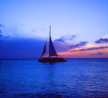 """Aruba Sail Boat"" by Carter L. Shepard by echoesofheaven"