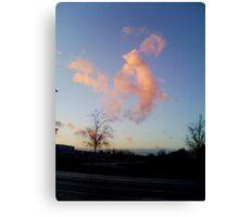 Coucher de soleil sur le zenith Rouen Canvas Print