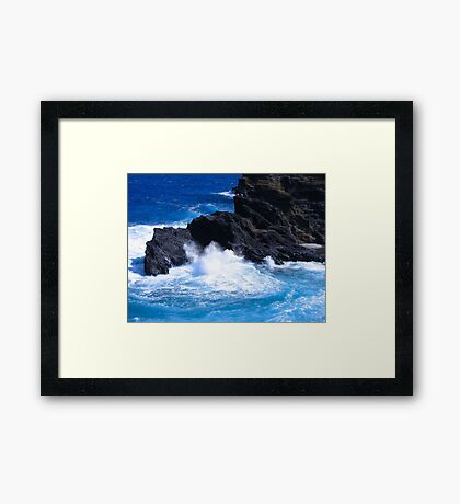 """Hawaii Ocean"" by Carter L. Shepard Framed Print"