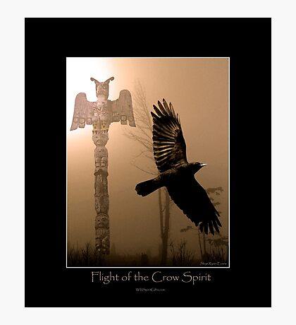 """Flight of the Crow Spirit"" Photographic Print"