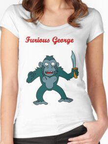 Furious George Women's Fitted Scoop T-Shirt