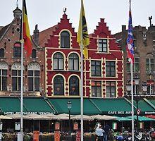 La plaza Markt, centro de la ciudad.Brujas- Bélgica. by cieloverde