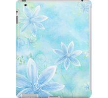 Floral Display Light Blue iPad Case/Skin