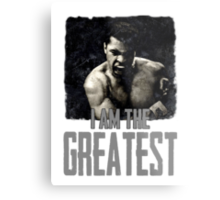 Muhammad Ali I Am The Greatest Metal Print