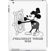 Steamboat Willie (black) iPad Case/Skin