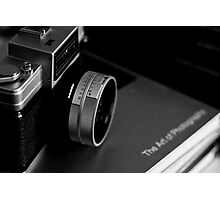 Vintage Nikon Camera Photography - Black and White Photographic Print