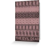 The Evil Dead (1981) Poster Greeting Card