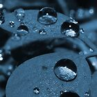Rain Drops Blue by Joey Kuipers