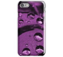 Rain Drops Purple iPhone Case/Skin