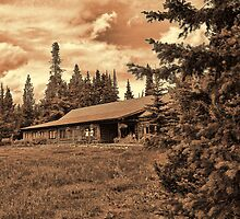 Jenny Lake Lodge Toned III by Brenton Cooper