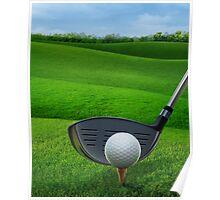Golf Golfing Poster