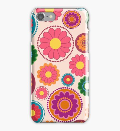 Seamless colorful flower pattern iPhone Case/Skin