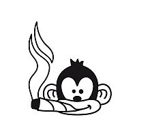 Cool Joint Smoking Monkey Face Photographic Print