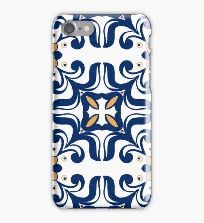 Old floral tiles background iPhone Case/Skin